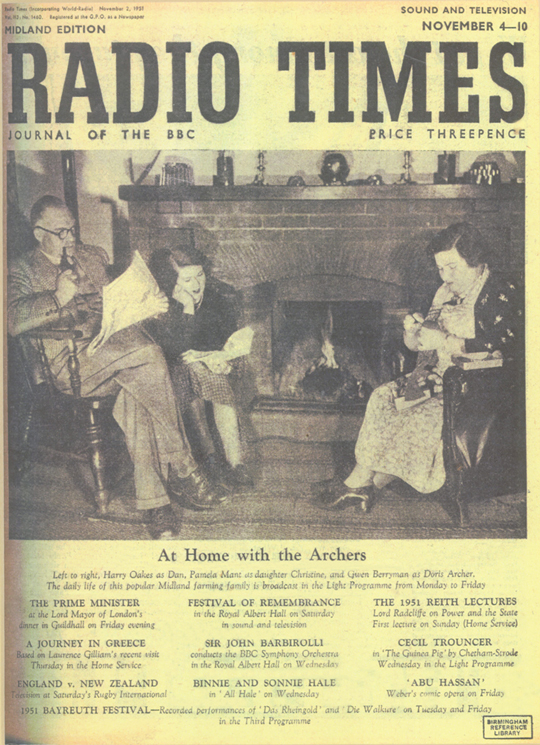 Radio-Times-Archers-2-Nov-1951