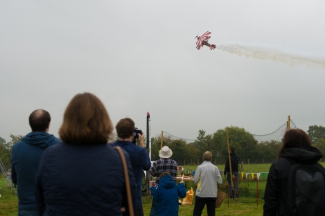 The weather did not dampen the aerobatic display!